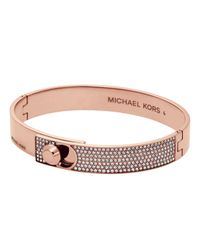 Michael Kors - Pink Chain And Element Bracelet Rosegold-tone - Lyst
