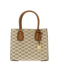 MICHAEL Michael Kors | Mercer Md Messenger Natural/luggage | Lyst