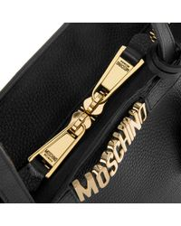 Moschino - Logo Shopping Bag Two Way Zipper Black - Lyst