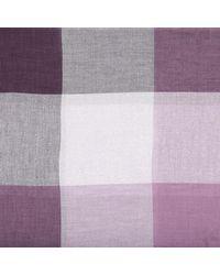 COACH - Purple Metallic Windowpane Challis Scarf Mauve - Lyst