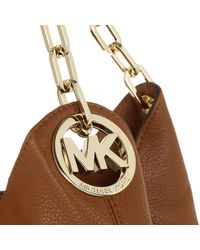 Michael Kors - Brown Fulton Lg Shoulder Tote Luggage/gold - Lyst