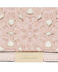Michael Kors - Jade Gusset Medium Clutch Soft Pink - Lyst