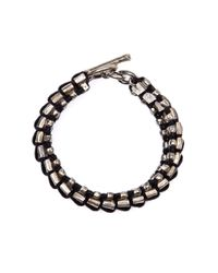 Tobias Wistisen | Metallic Full Square Bead Bracelet for Men | Lyst