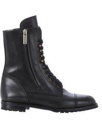 Manolo Blahnik - Black Side-zip Campcha Boots - Lyst