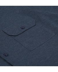 Sunspel - Blue Men's Italian Cotton Flannel Shirt for Men - Lyst