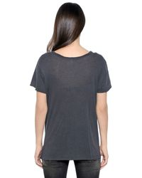 R13 | Gray Vintage Cotton Jersey T-shirt | Lyst