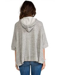 Enza Costa | Japanese Terry Poncho Hoodie in Gray | Lyst