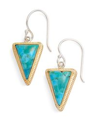Anna Beck | Blue Triangle Stone Drop Earrings | Lyst