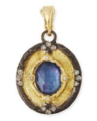 Armenta | Blue Triplet Diamond Enhancer Pendant | Lyst