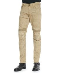 Ralph Lauren Black Label - Brown Slimfit Piston Moto Jeans for Men - Lyst