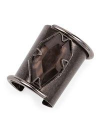 Lanvin - Brown Vertical Quartz Cuff Bracelet - Lyst