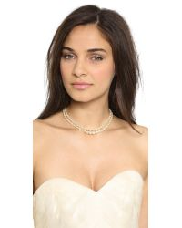 Ben-Amun - White Imitation Pearl Back Necklace Pearl - Lyst