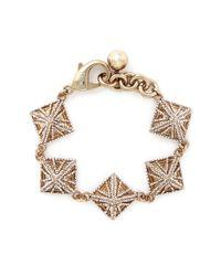 Lulu Frost | Metallic Crystal Pavé Pyramid Bracelet | Lyst