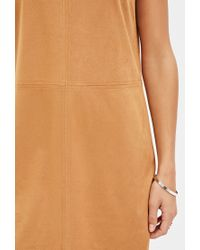 Forever 21 - Brown Faux Suede Shift Dress You've Been Added To The Waitlist - Lyst
