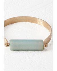 Forever 21 | Blue Faux Stone Latch Bracelet | Lyst