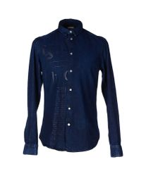 John Galliano - Blue Denim Shirt for Men - Lyst