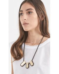 Erin Considine - Brown Triple Gully Pendant Necklace - Lyst