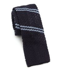 Eidos | Blue Repp Stripe Silk-blend Tie for Men | Lyst