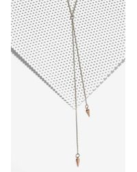 Nasty Gal | Metallic To The Point Lariat Necklace | Lyst