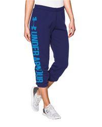 Under Armour | Purple Favorite Fleece Capri Sweatpants | Lyst