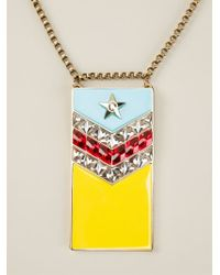 Lanvin - Metallic 'calvi' Flag Necklace - Lyst