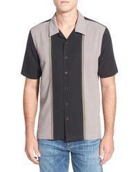 Nat Nast Blue 'arbus' Regular Fit Short Sleeve Silk Sport Shirt for men