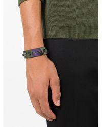 Valentino   Green 'Rockstud' Camouflage Bracelet for Men   Lyst