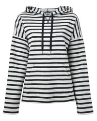 T By Alexander Wang - Blue Striped Hoodie - Lyst