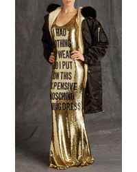 Moschino - Metallic Nothing To Wear Sequin Gown - Lyst