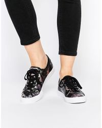 ASOS - Green Dante Lace Up Camo Trainers - Lyst