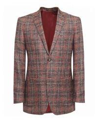 Jules B - Brown Check Tweed Jacket for Men - Lyst