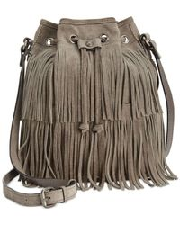 Patricia Nash | Gray Suede Bronte Bucket Bag | Lyst