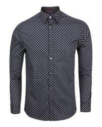 Ted Baker - Blue Wenfarh Ornate Geo Print Shirt for Men - Lyst