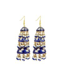 Chamak by Priya Kakkar | Blue Tier Drop Earrings | Lyst