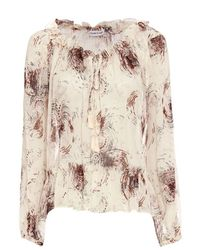 Elizabeth and James - Natural Duma Tassel Tie Print Blouse - Lyst
