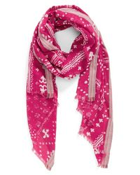 Hinge | Pink Mixed Print Scarf | Lyst