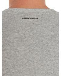 Björn Borg | Gray Short Sleeve Scotty Logo Crew Neck Tee for Men | Lyst