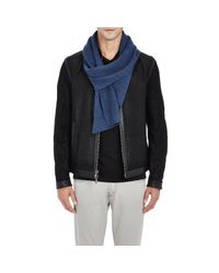 Barneys New York - Blue Men's Cashmere English Rib-knit Scarf for Men - Lyst