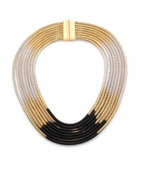 ABS By Allen Schwartz | Metallic Color Mix Ombré Multi-row Coil Necklace | Lyst