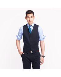 J.Crew - Blue Ludlow Suit Vest In Italian Chino for Men - Lyst