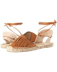 Soludos - Brown Leather Fringe Classic Sandal - Lyst