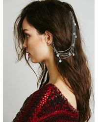 Free People | Metallic Ear Cuff To Hair Chain | Lyst
