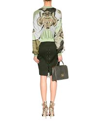 Emilio Pucci - Green Applegoldmulti Embroidered Silk Bomber Jacket - Lyst