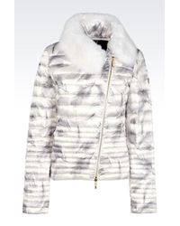 EA7 | White Down Coat | Lyst