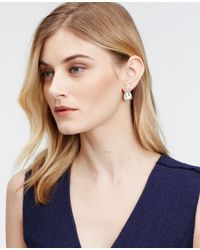 Ann Taylor | Metallic Double Crystal Drop Earrings | Lyst