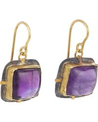 Judy Geib | Purple Amethyst Drop Earrings Size Os | Lyst