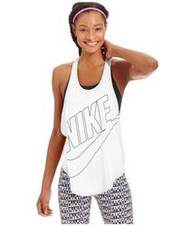 Nike | White Graphic Tank Top | Lyst