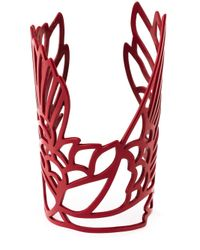 Carven | Red 'Bird' Cuff | Lyst