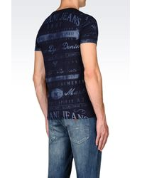 Armani Jeans - Black T-shirt In Cotton Jersey for Men - Lyst