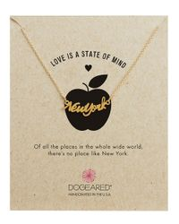 Dogeared | Metallic Love Is A State Of Mind New York Necklace | Lyst